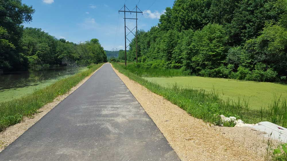 newly paved segment of Wagon Wheel Trail