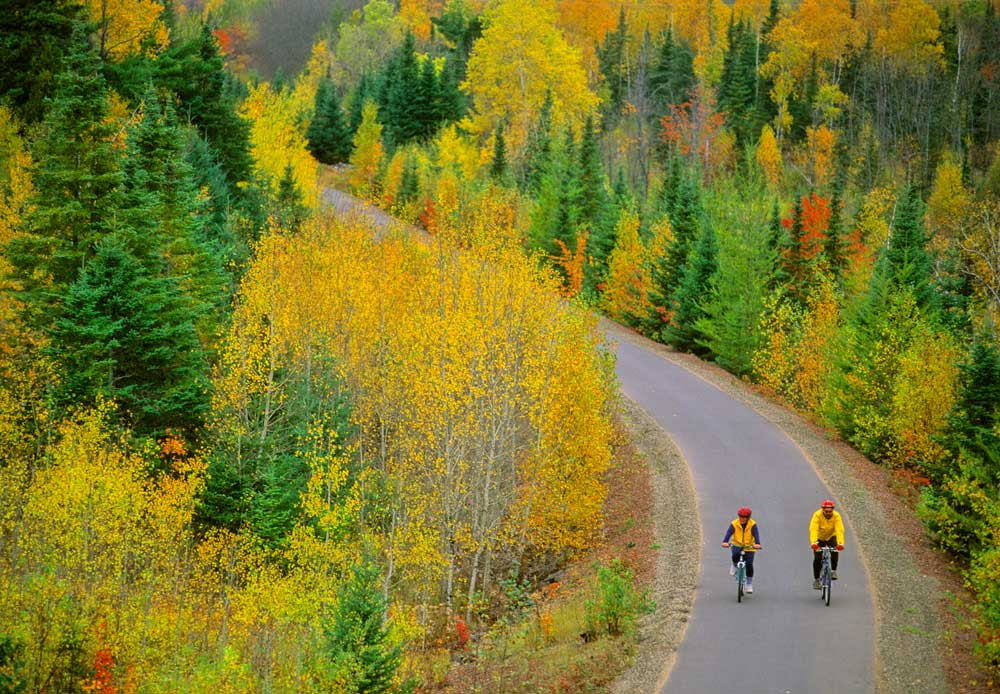 Bikers on the Mesabi Trail