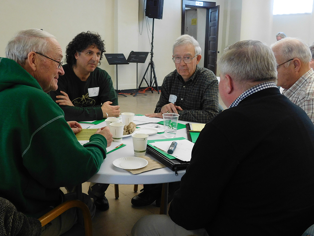 Discussing the issues at Parks & Trails Council's event