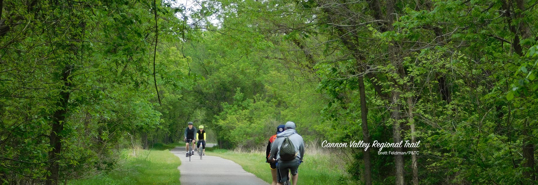 Bicyclists on the Cannon Valley Regional Trail