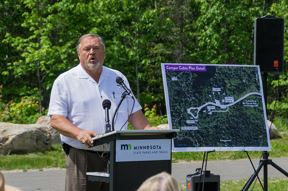 Sen. Bakk at Lake Vermilion ceremony