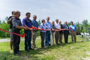 Cutting the ribbon on the new campground for Lake Vermilion State Park