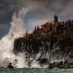 stormy winter scene at by Matthew Herberg