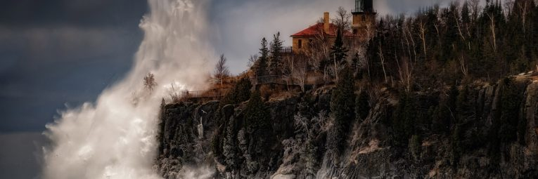 stormy winter scene at by Matthew Herberg