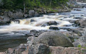 Rapids along the Baptism River.