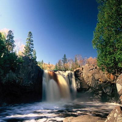 Illgen Falls at Tettegouche State Park. Courtesy of Rudi Hargesheimer