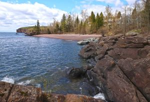 rocky lakeshore