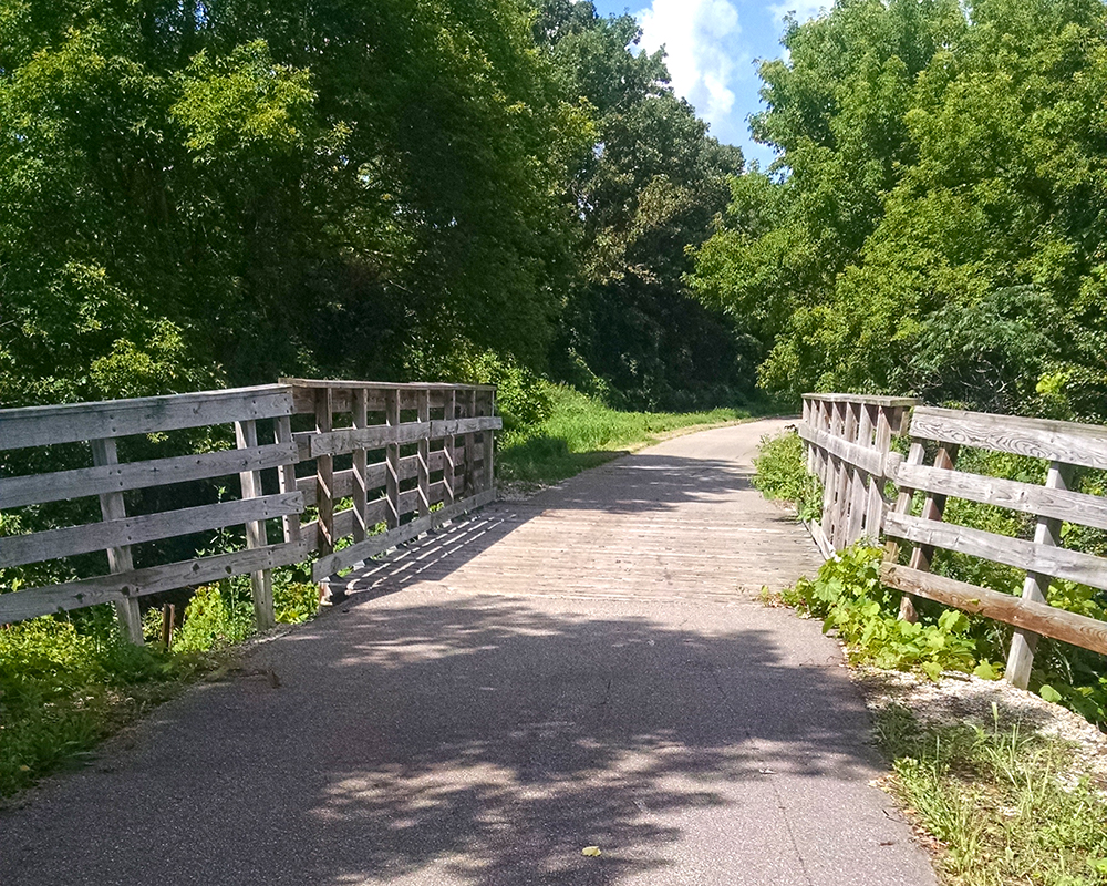 Great River Ridge State Trail bridge