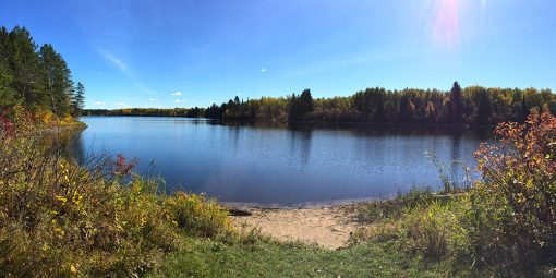 Hayes Lake on sunny fall day