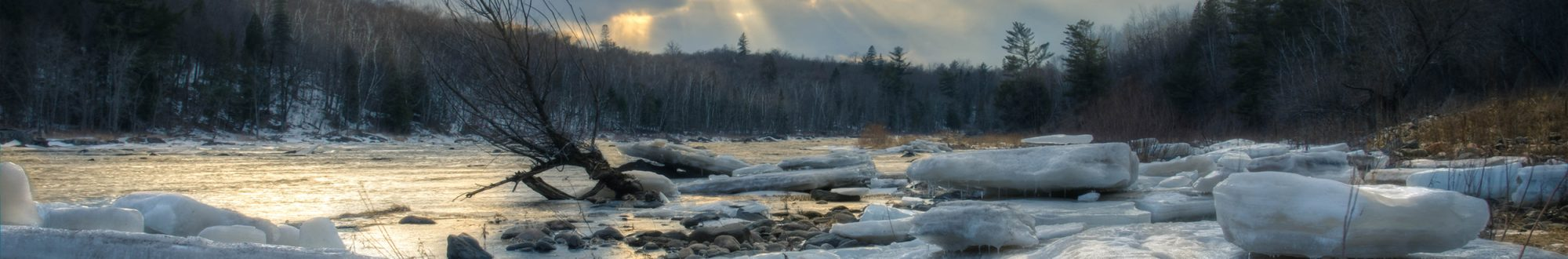 Jay Cooke State Park icebergs by Mick Rollins