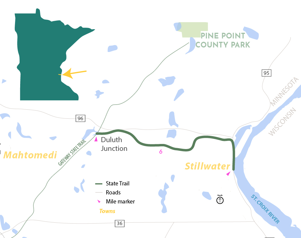 Browns Creek State Trail Map