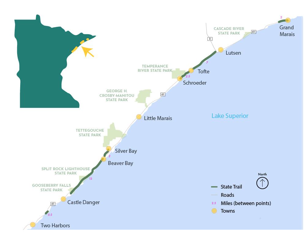 Gitchi Gami State Trail map