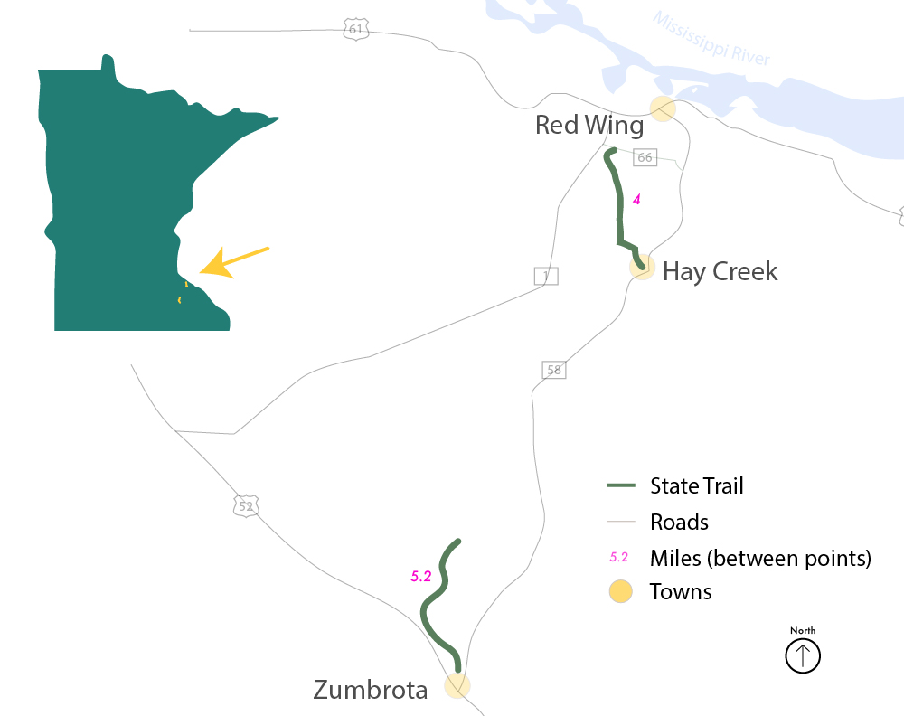 Goodhue Pioneer State Trail map