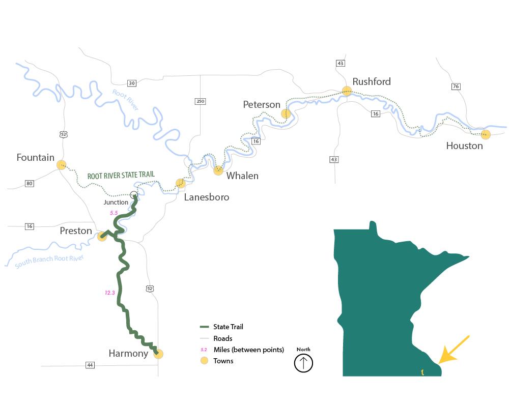 Harmony Preston Valley State Trail map