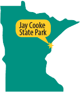 Map of Jay Cooke State Park
