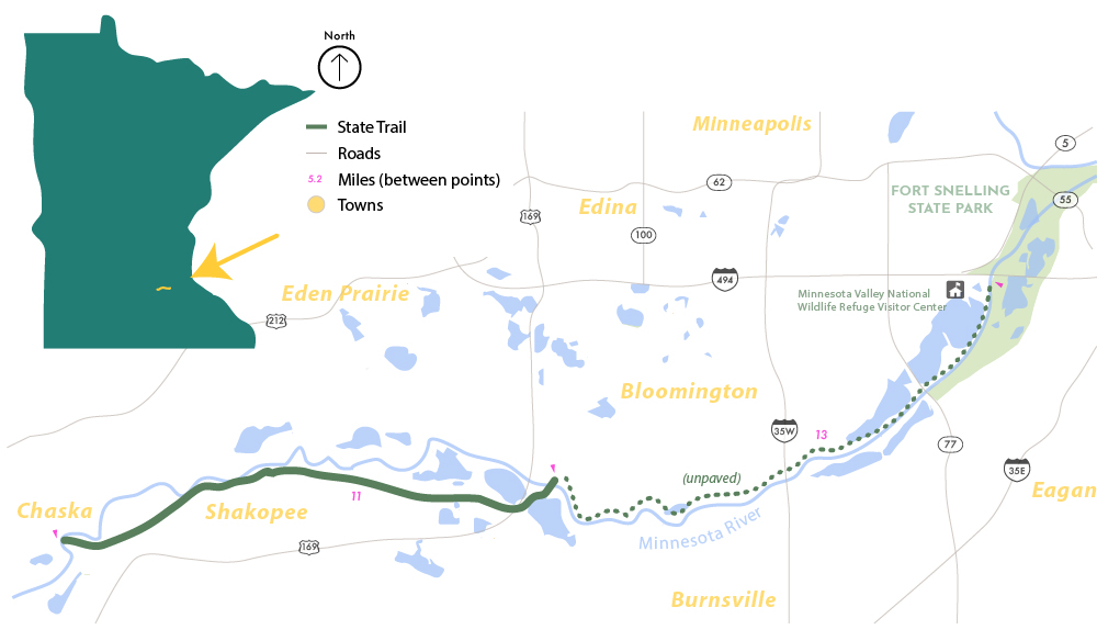Minnesota Valley State Trail map