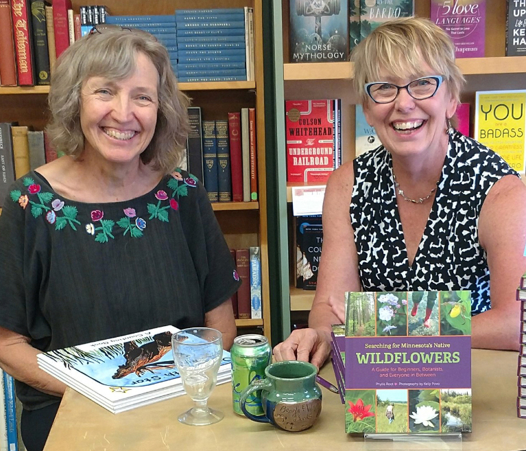 Author Phyllis Root and photographer Kelly Provo at bookshop