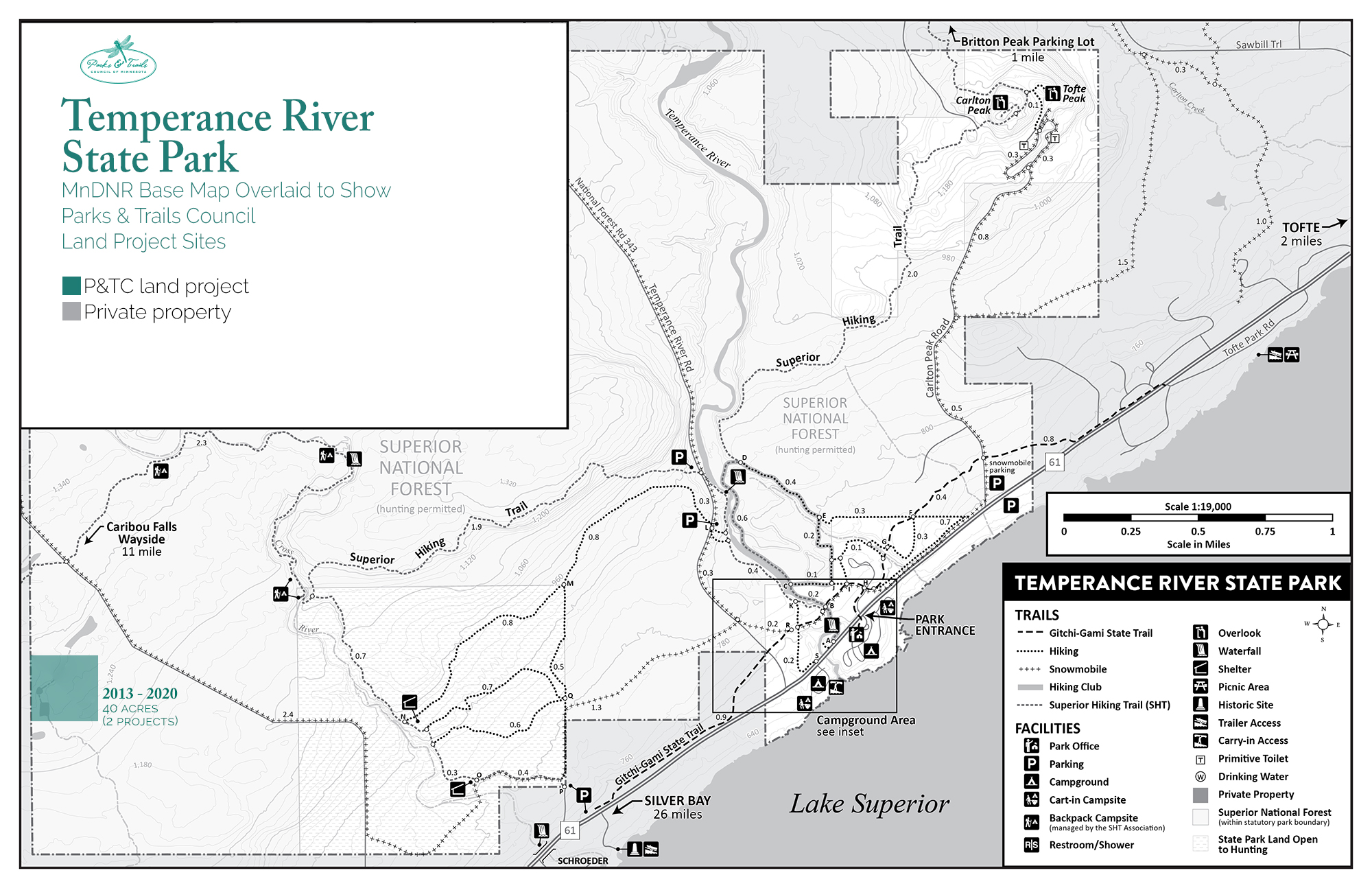 Map of Temperance River State Park