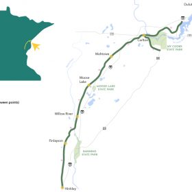Willard Munger State Trail map