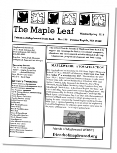 The Maple Leaf newsletter cover page