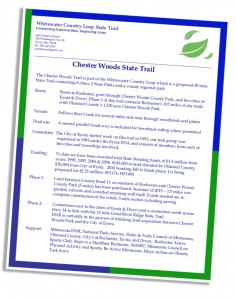 Chester Woods Trail fact sheet