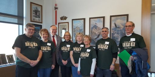 Group picture with Sen. Dave Senjem