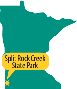 map of Minnesota showing where Split Rock Creek State Park is