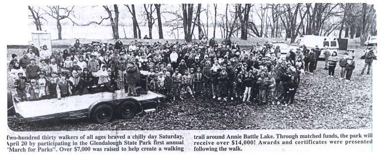 group picture from newspaper clipping from first annual walk