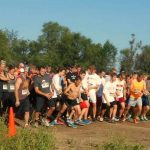 Runners at the starting line of a 5k/10k