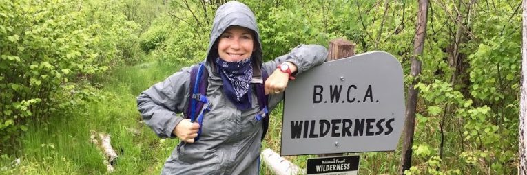 Arielle Courtney by BWCA Wilderness Sign