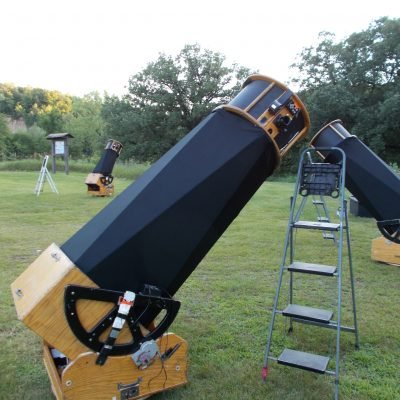 Telescopes ready for star gazing