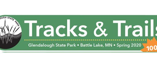 Newsletter masthead: Tracks and trails Spring 2020 #100