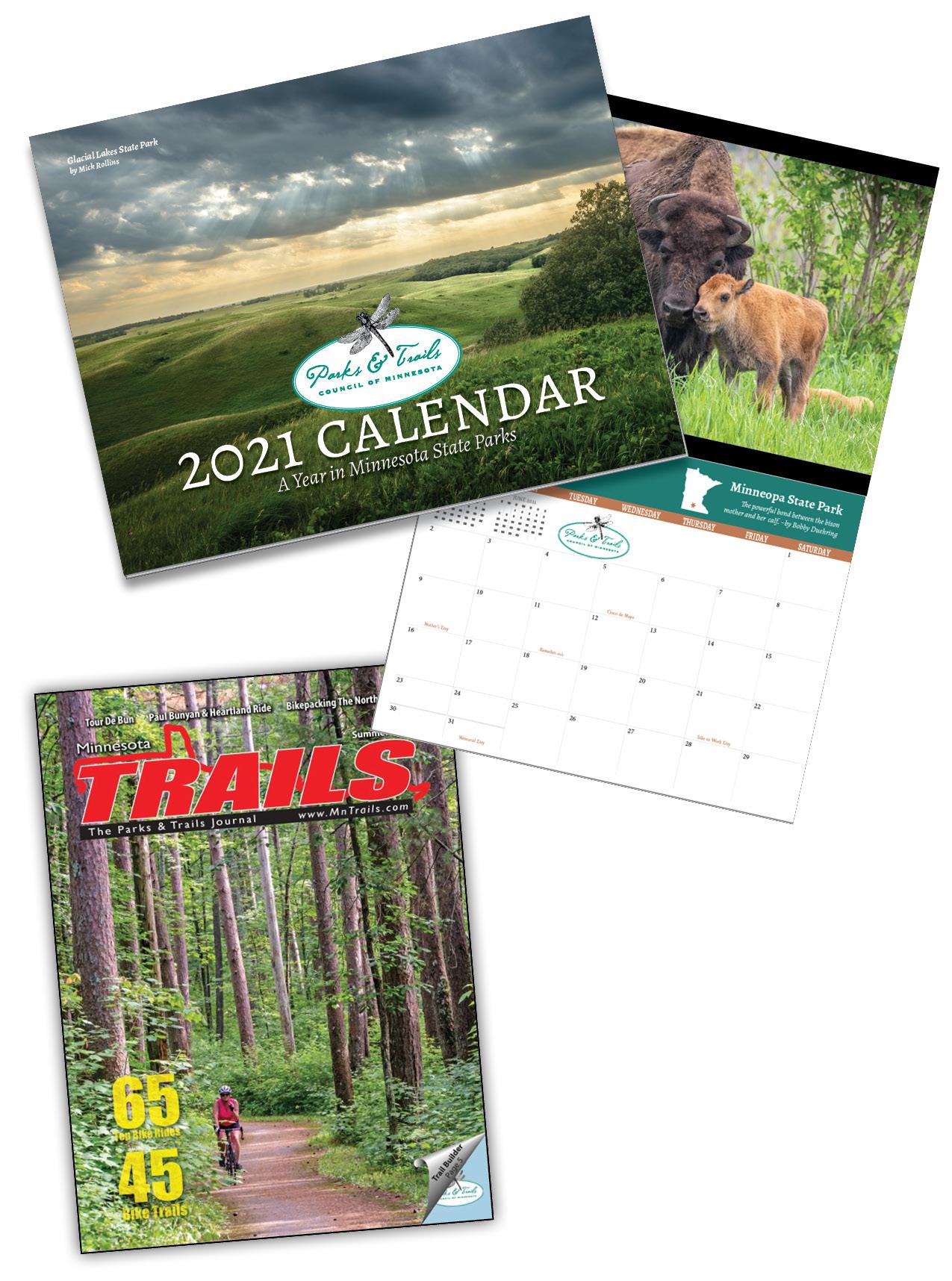 Calendar cover and magazine cover