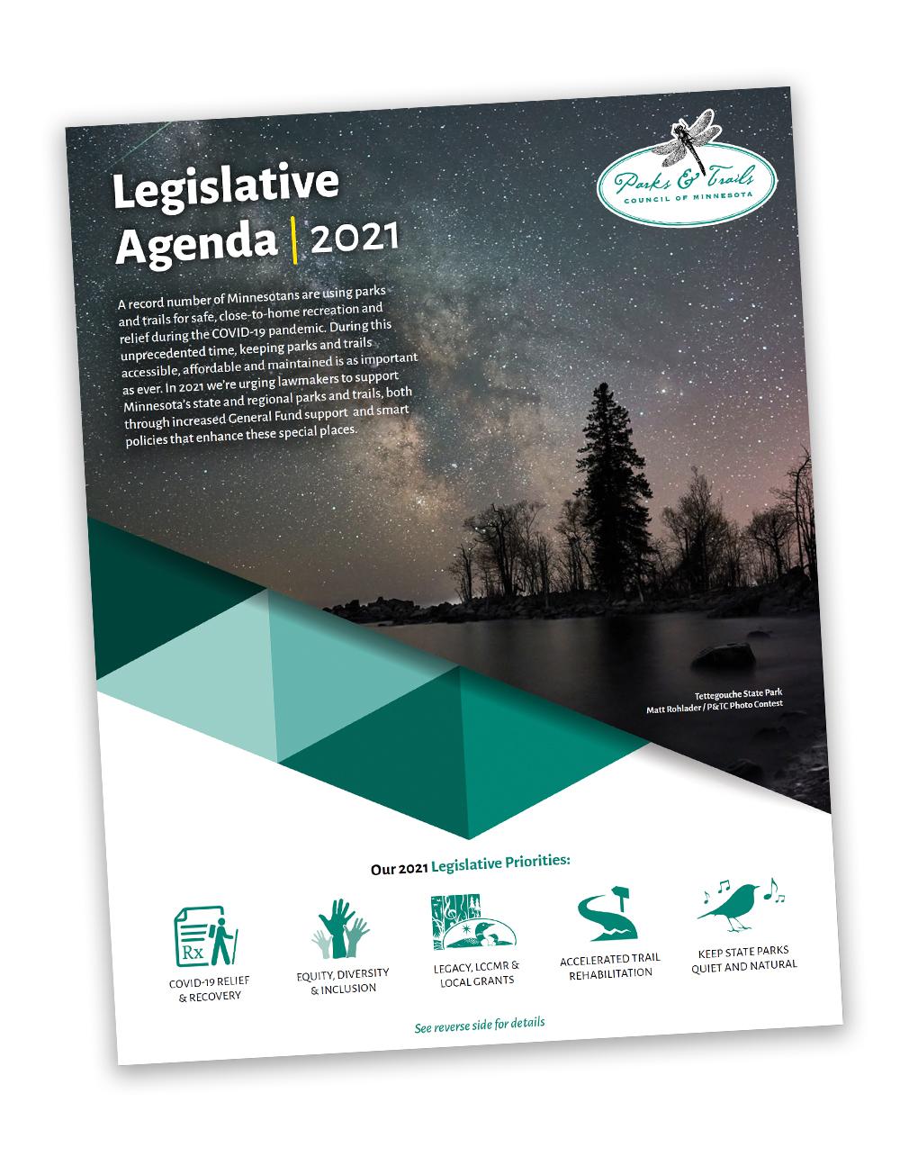 2021 Legislative Agenda cover