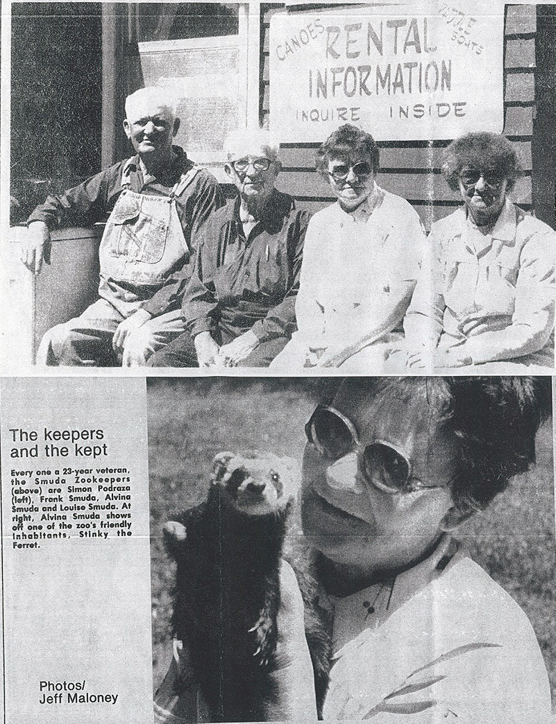 Newpaper clipping showing the zookeepers