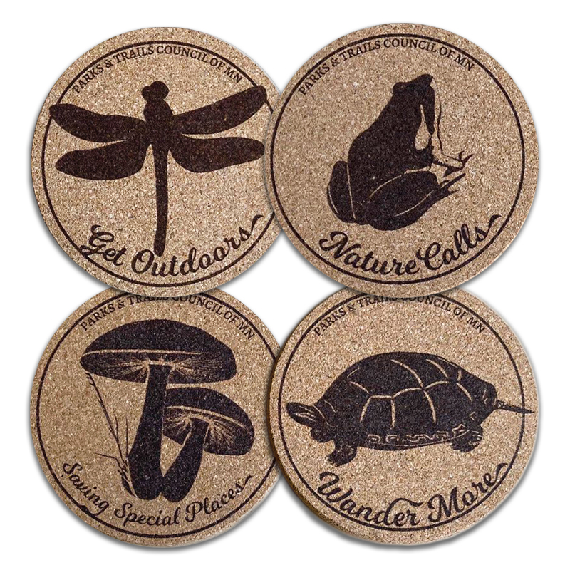 Coasters - Set of four custom designed cork coasters