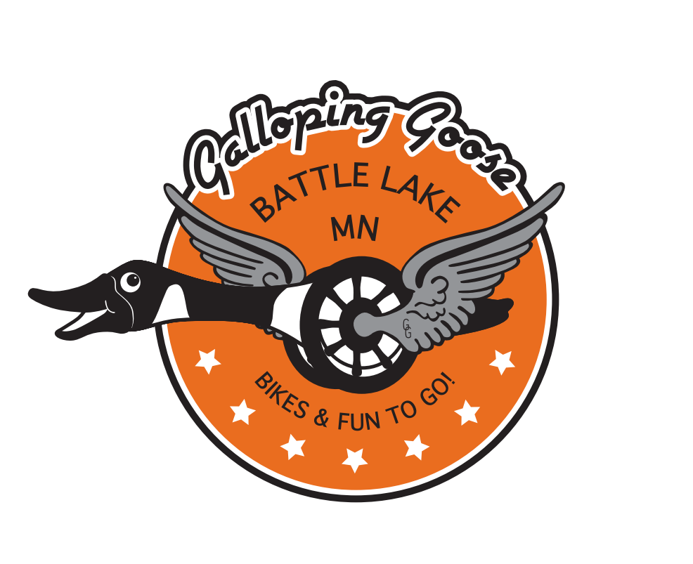 Logo showing goose merged with a goose