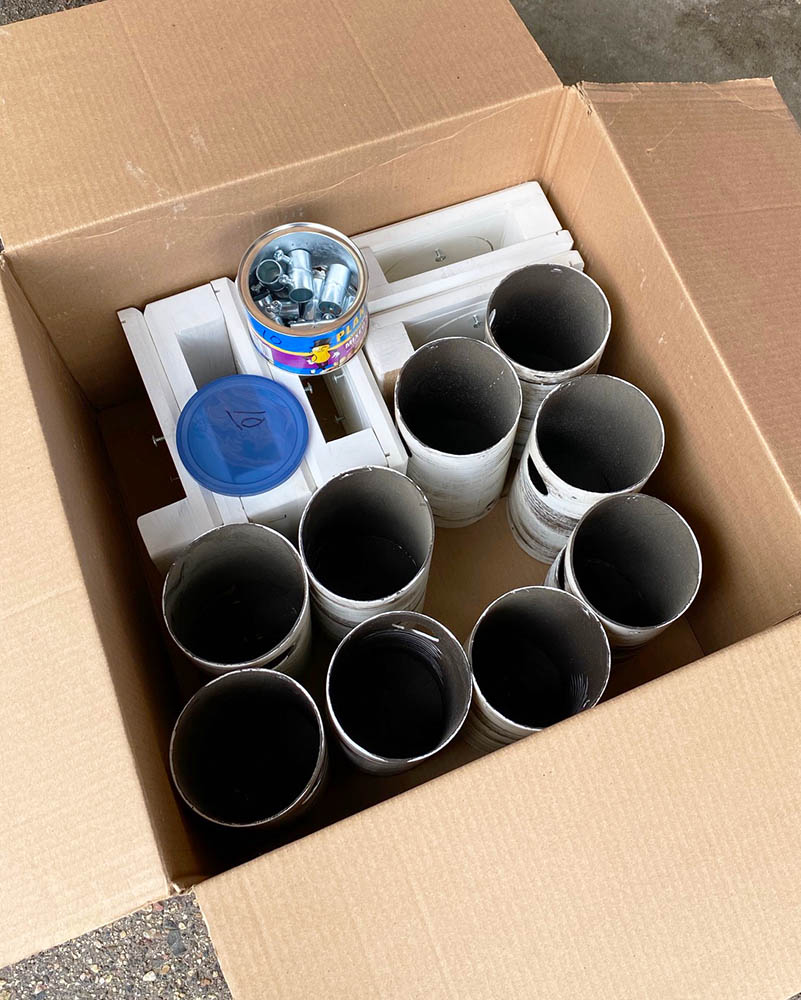 materials for bluebird houses in a box