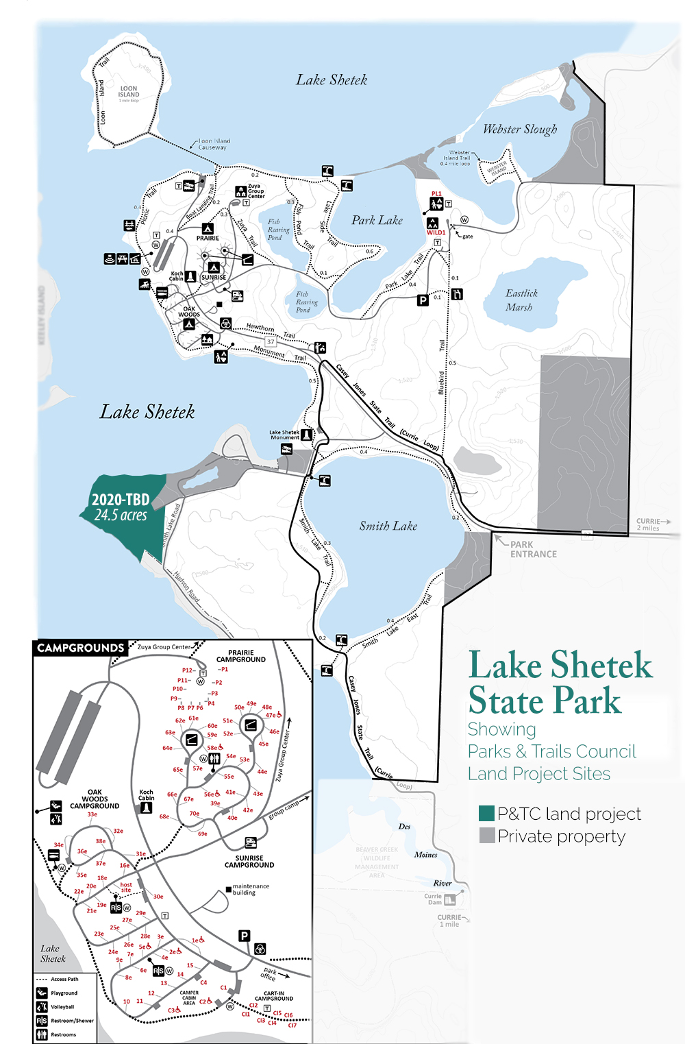 Map of Lake Shetek