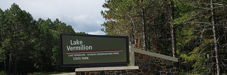 Entrance sign to park