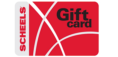 Red Scheels gift card