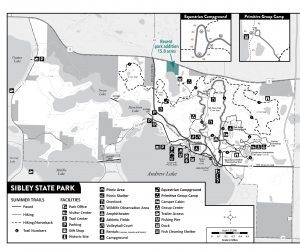Map of Sibley State Park
