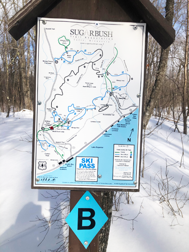 map of Sugarbush ski trail system