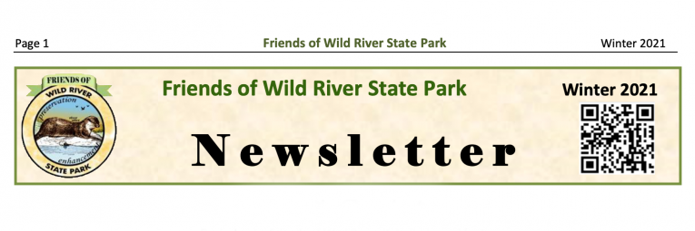 Friends of Wild River newsletter header with their logo