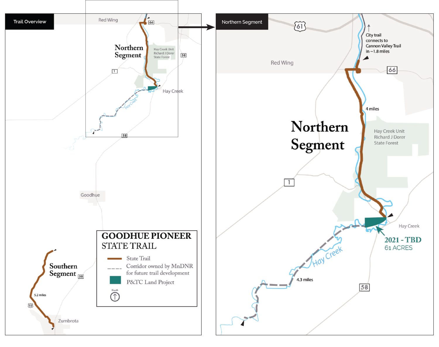 Map of Goodhue Pioneer Trail