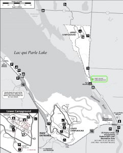 Map of Lac qui Parle State Park