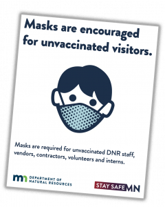 DNR poster masks are encouraged for unvaccinated visitors