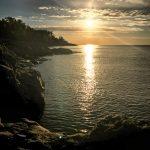 Sunrise in the North. Lake Superior.