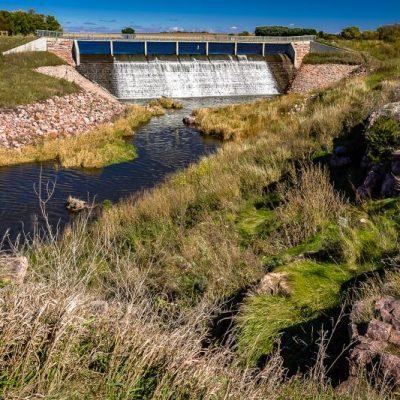 dam and river at Split Rock Creek State Park