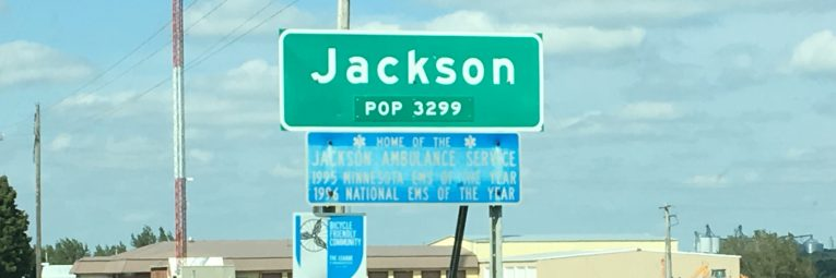City of Jackson population sign